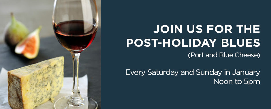 Join us for the post-holiday blues, Saturdays and Sundays in January.
