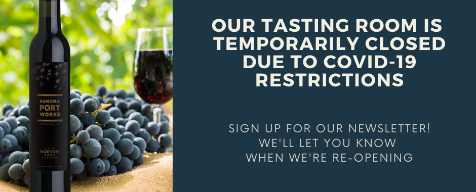 Our tasting room is temporarily closed.