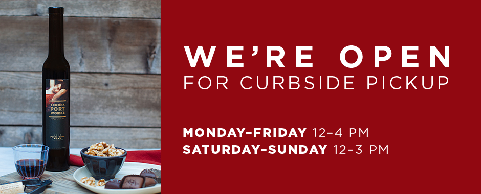 We're open for curbside pickup: Monday - Friday 12 - 4 PM; Saturday - Sunday 12 - 3 PM
